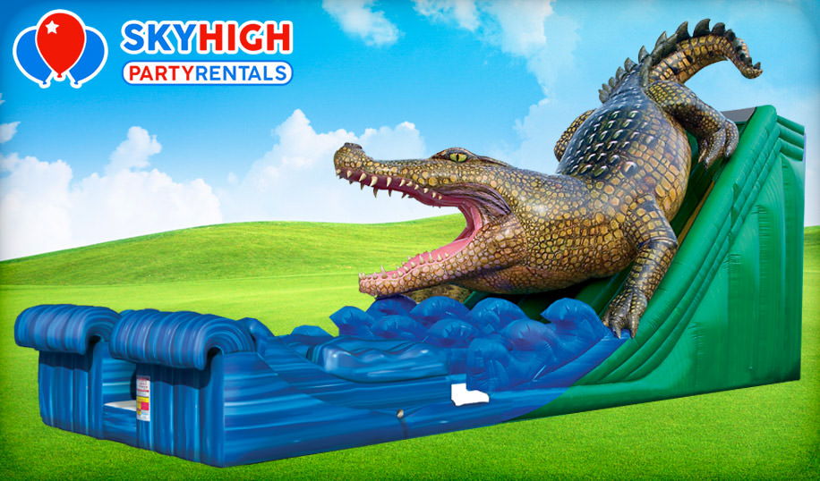 Alligator Bounce House Water Slide Rental