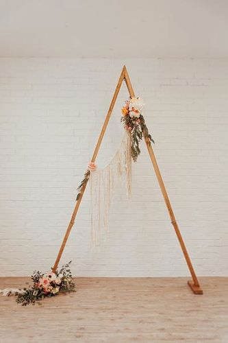 Triangle Wooden Arch Wedding Rentals