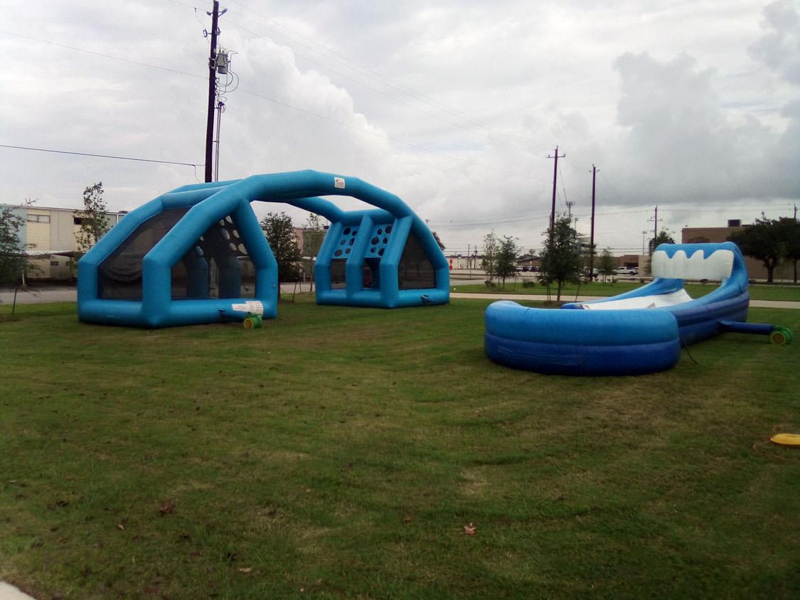 Water balloon and Texas Wild wave slip n slide