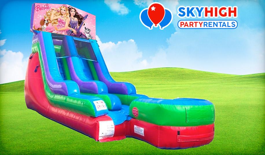 15ft Barbie Retro Wet/Dry Slide Rental
