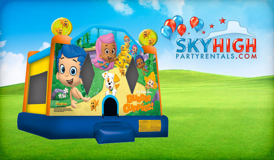 Bubble Guppies Moonwalk Rental in Houston