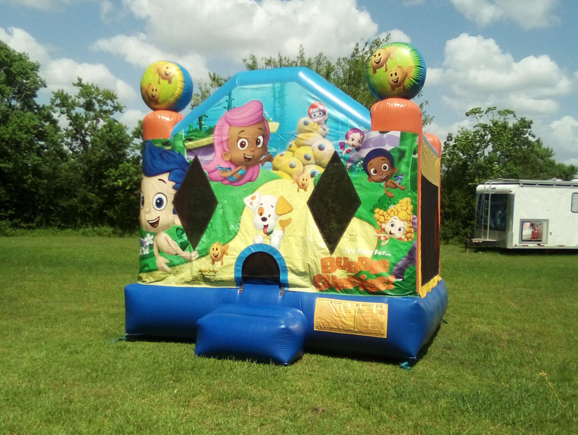 Austin Bubble Guppies bounce house moonwalk