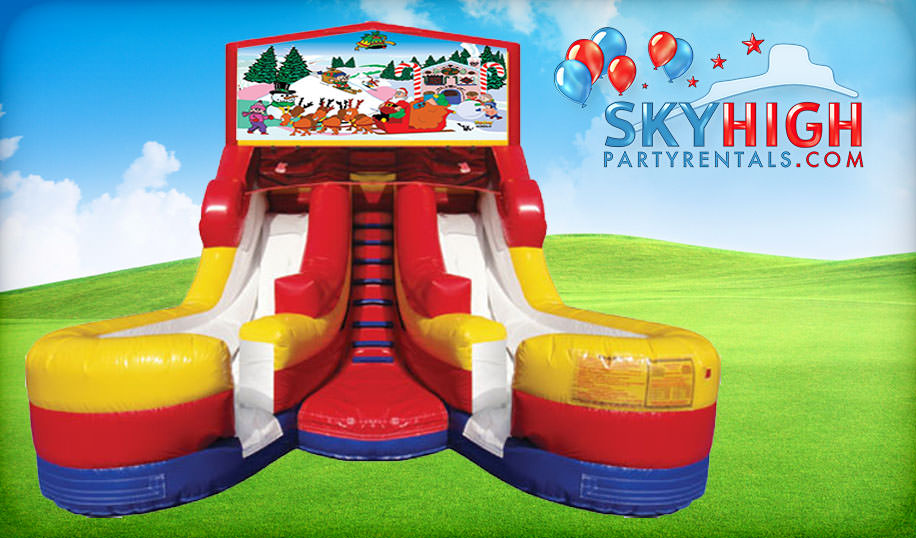 16ft Double Christmas Slides