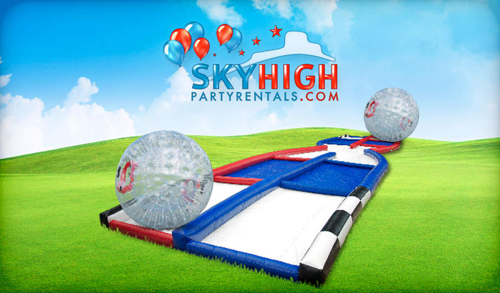 Zorb Inflatable Hamster Ball Collision Course