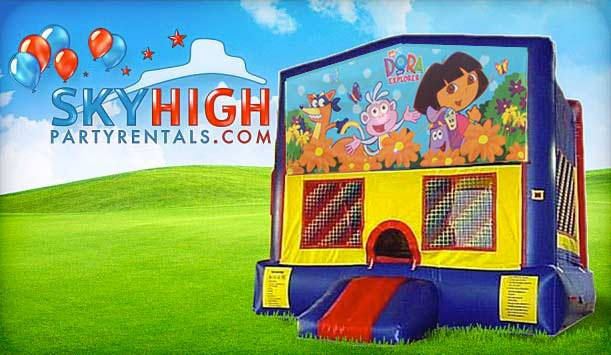 Dora Moonwalk Bounce House Houston