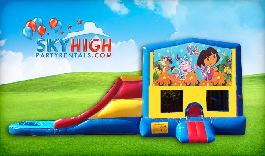 Houston Dora Bounce House with Slide Combo