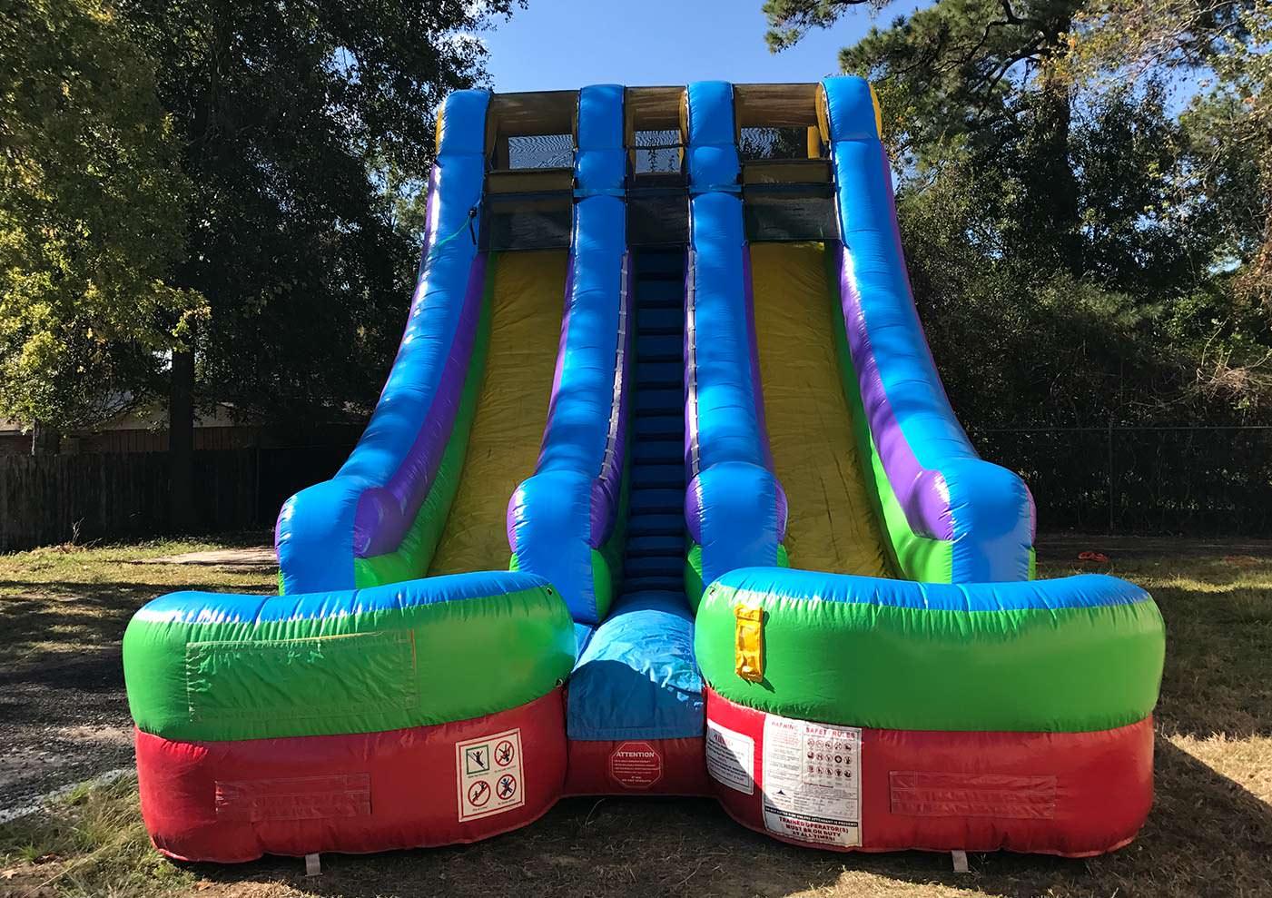 2 lane Inflatable Dry Slide