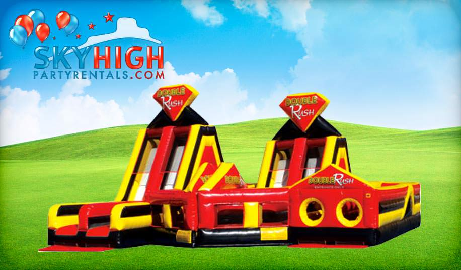 Double Rush Giant Obstacle Course