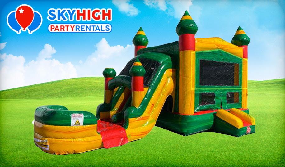 Fiesta Bounce House Combo (Wet/Dry) Slide