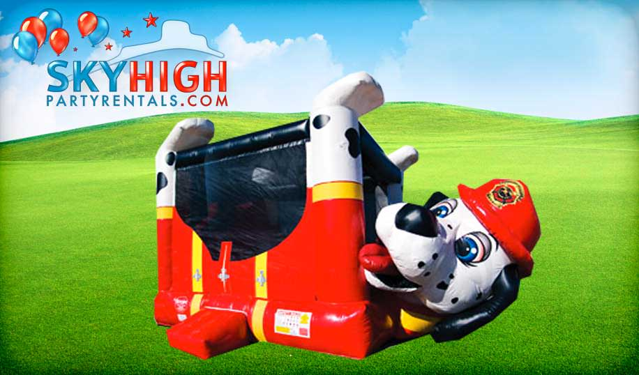Firemen Paw Patrol Dog Bounce House