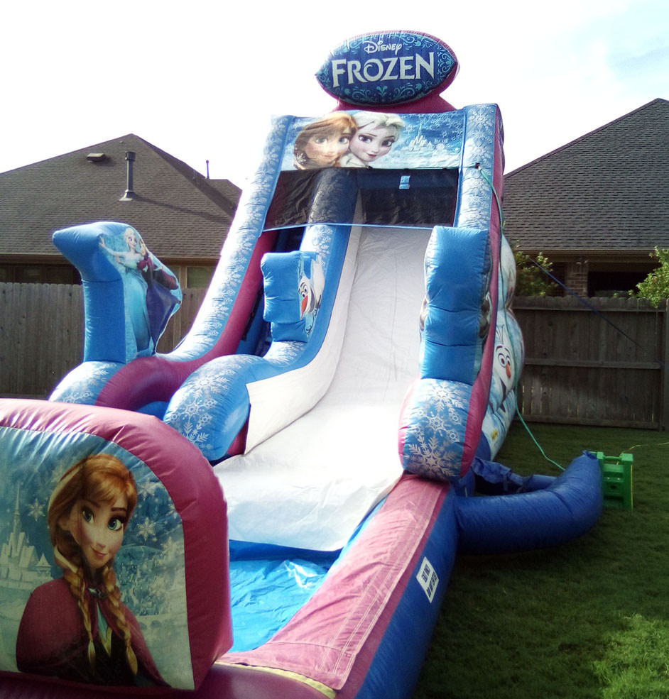 Frozen Slide with Pool