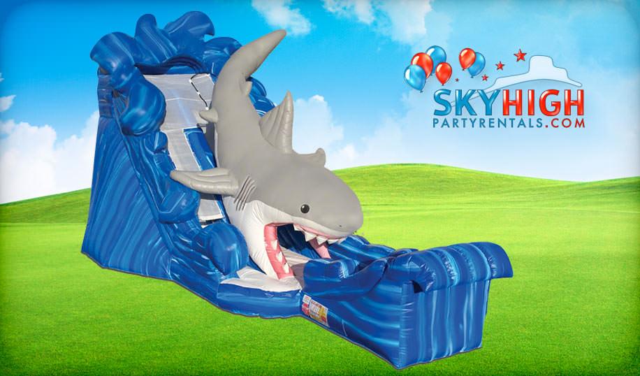 Giant Shark Slide For Rent