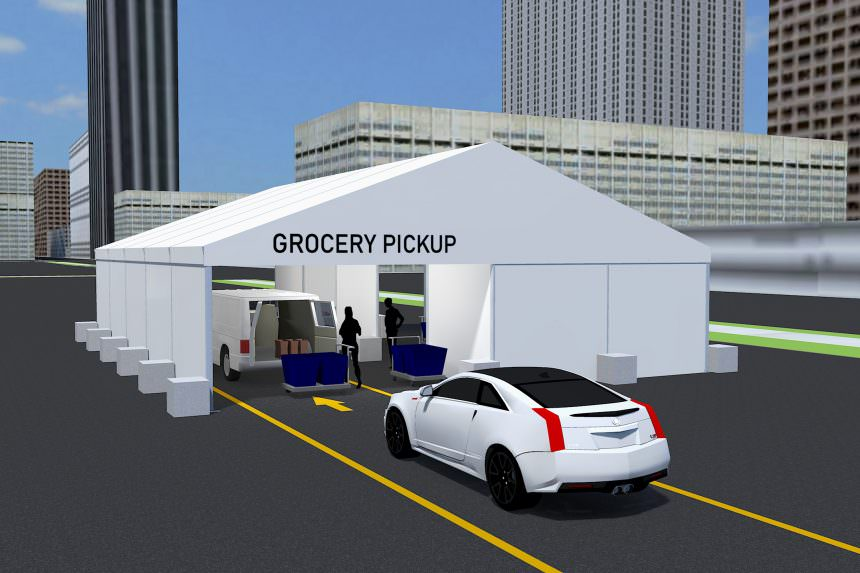Drive Through Grocery Tent Rentals