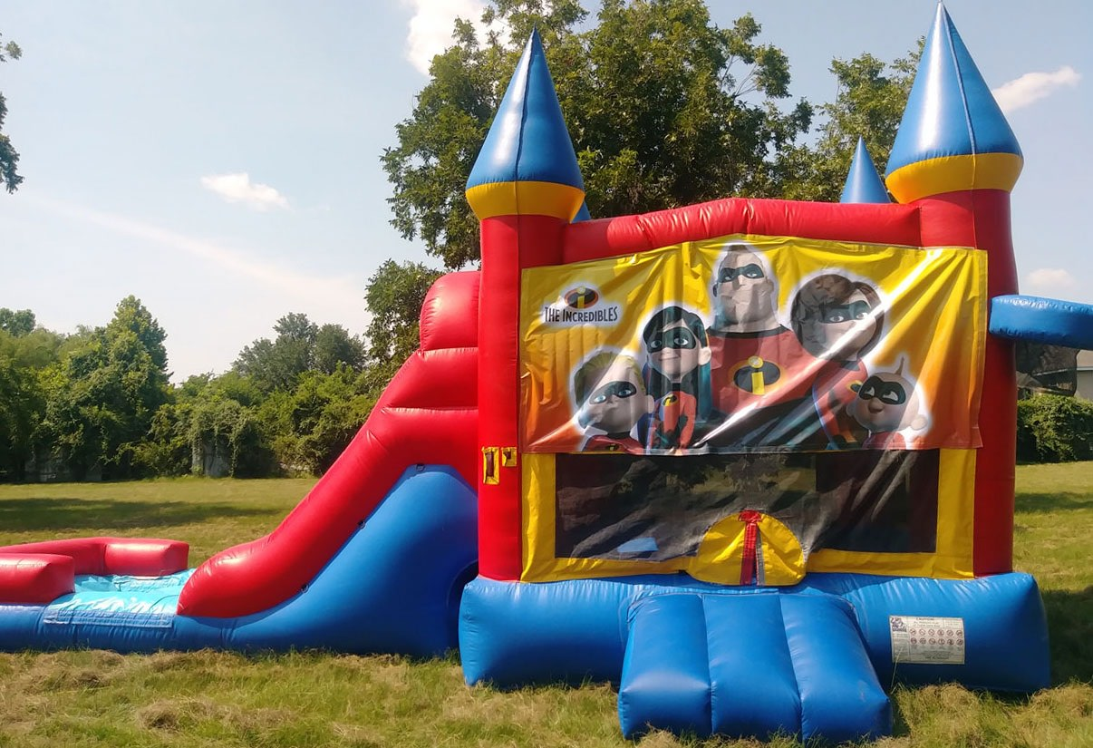 Incredibles Bounce House with Slide