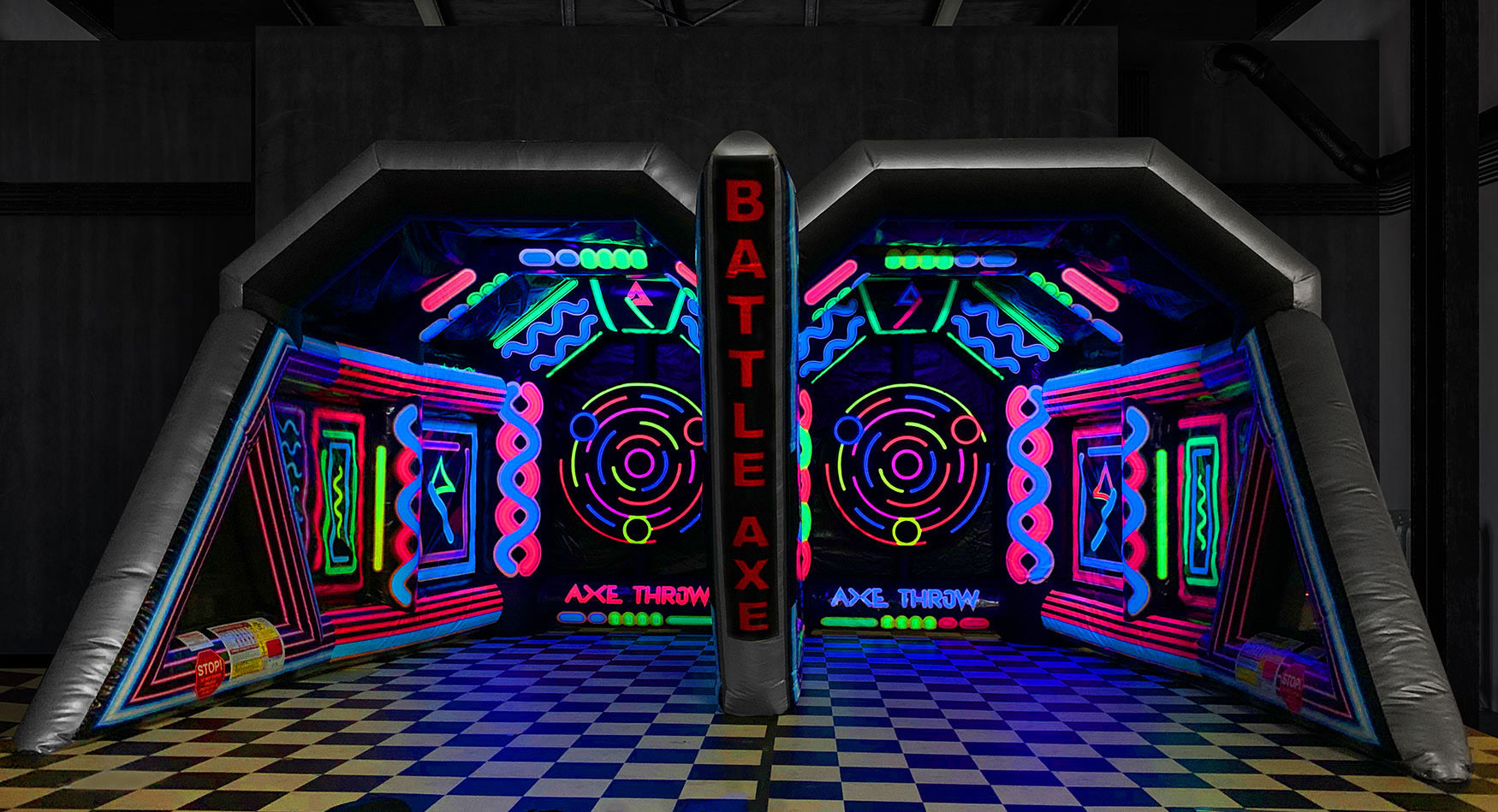 Rent Battle Axe Game Inflatable Black Light