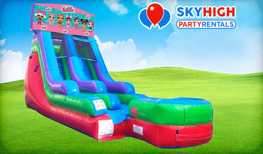 15ft LOL Surprise Retro Wet/Dry Slide Rental