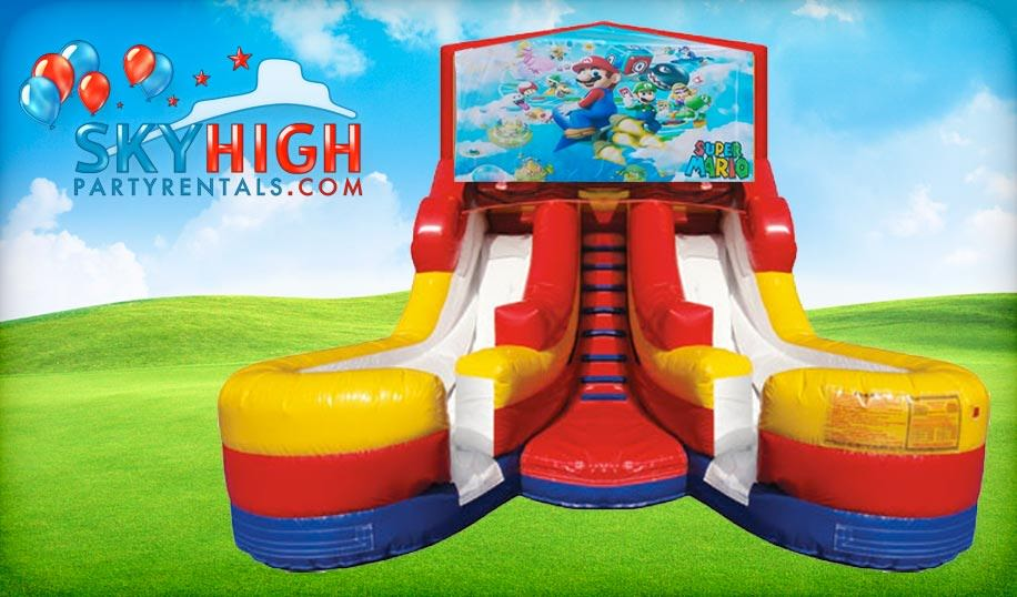 16ft Double Lane Super Mario Slide