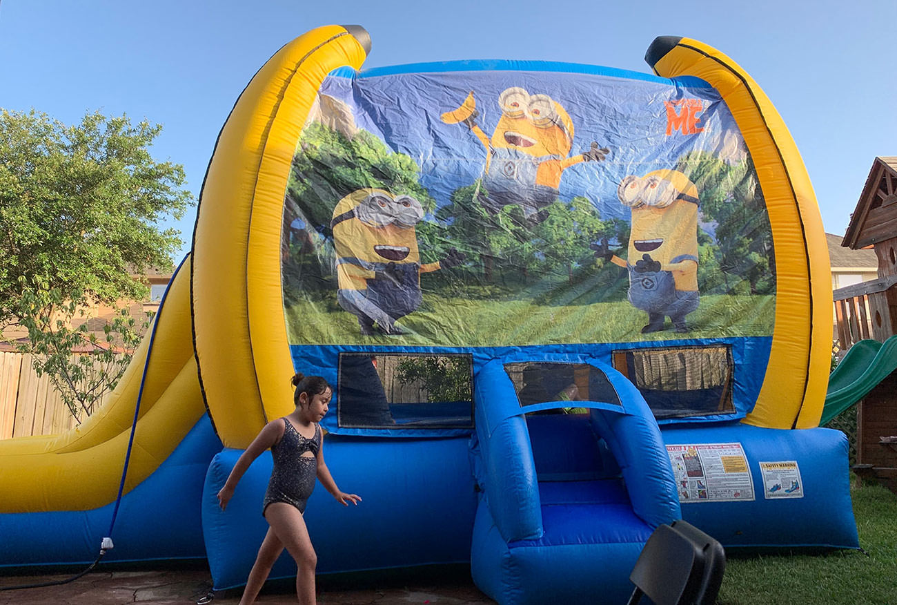 Minions Bounce House Combo For Hire