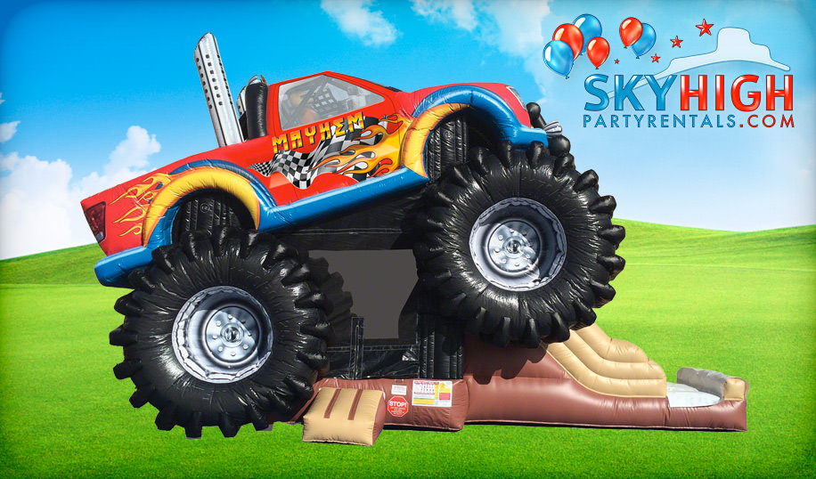 Monster Truck Inflatable Combo Jump