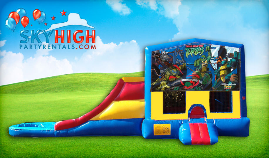 Teenage Mutant Ninja Turtles Bounce House Slide