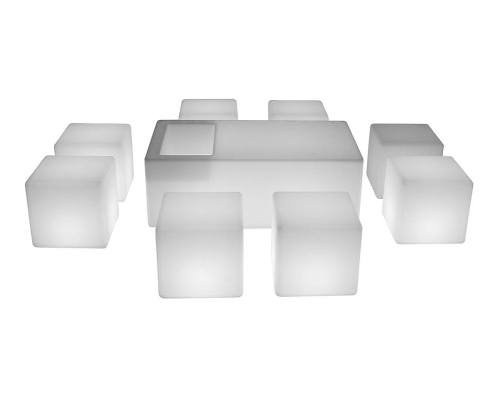 LED Furniture illuminated set for 8