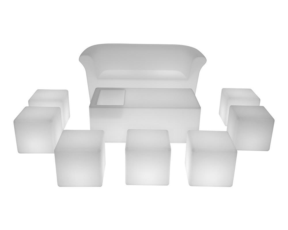 LED Furniture illuminated set for 10 Rentals