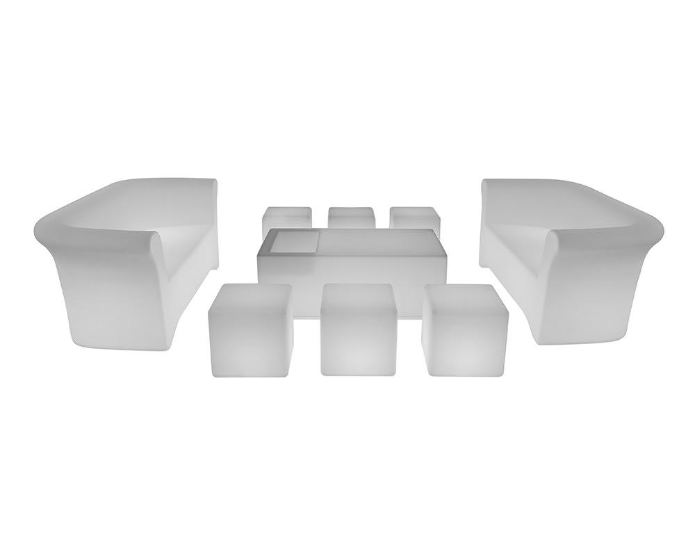 Led Furniture illuminated set for 12