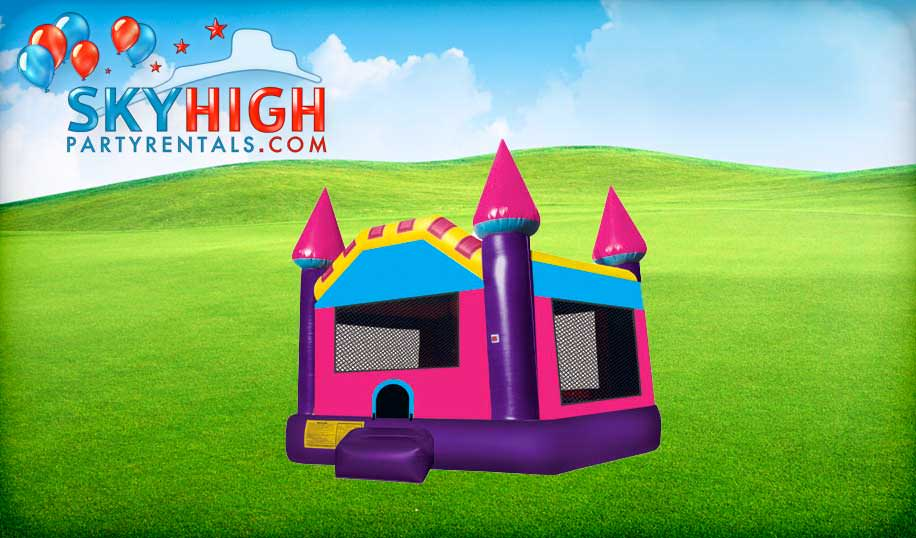 Pink Castle Tiny Bounce House