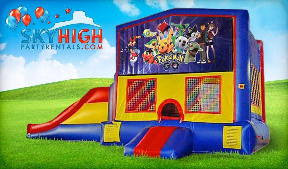 Pokemon Kids Bounce House Moonwalks