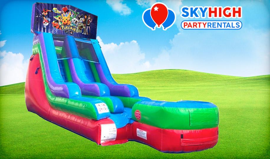Pokemon 15ft Pokemon Retro Wet/Dry Slide
