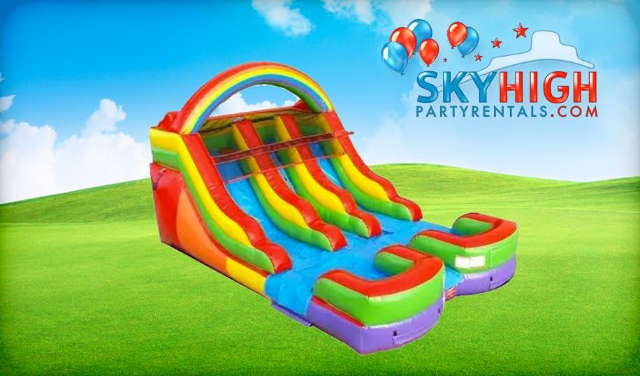 Toddler Rainbow Water Slide Rentals