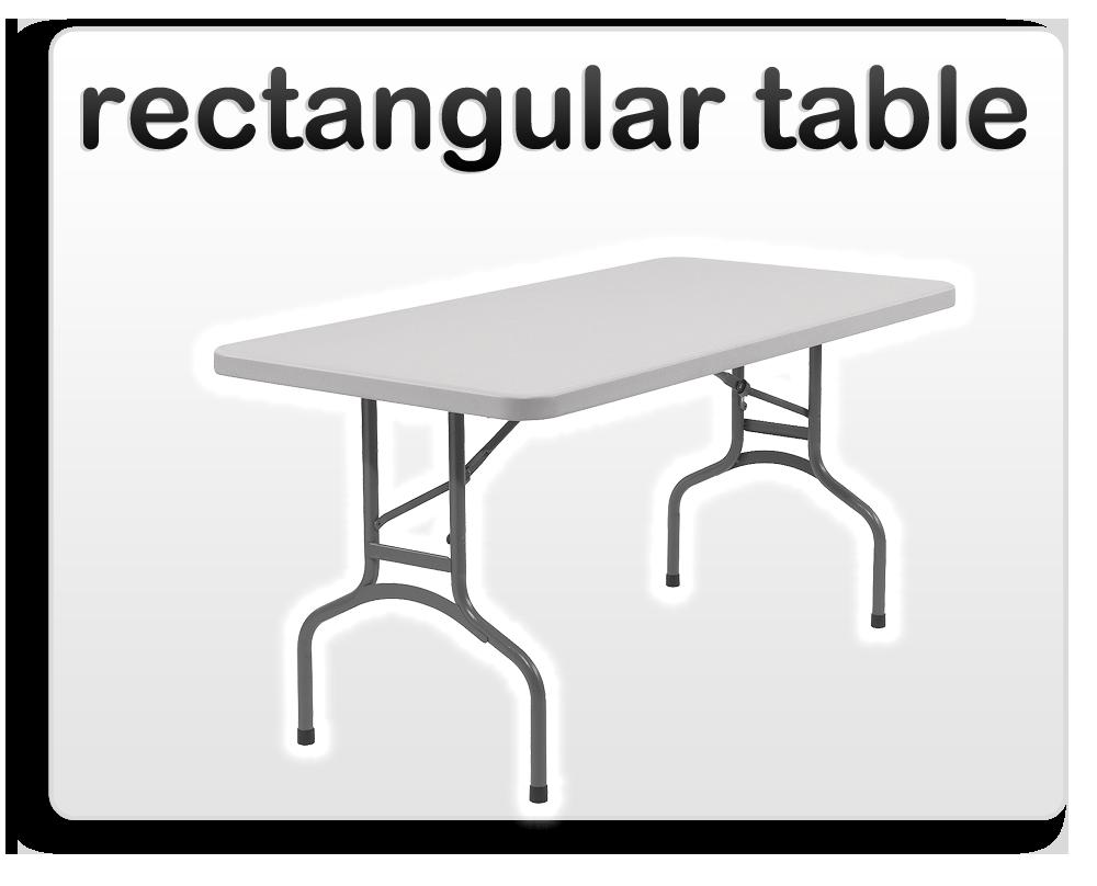 rectangular table rental