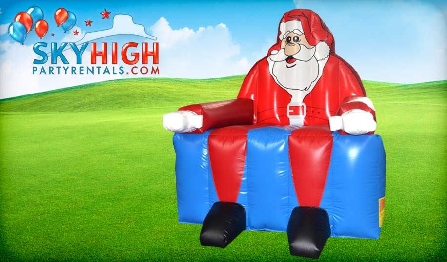 Big Inflatable Santa Chair Houston