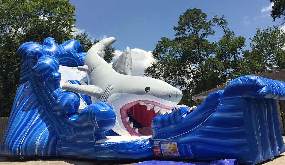 Shark Gone Fishing Water Slide
