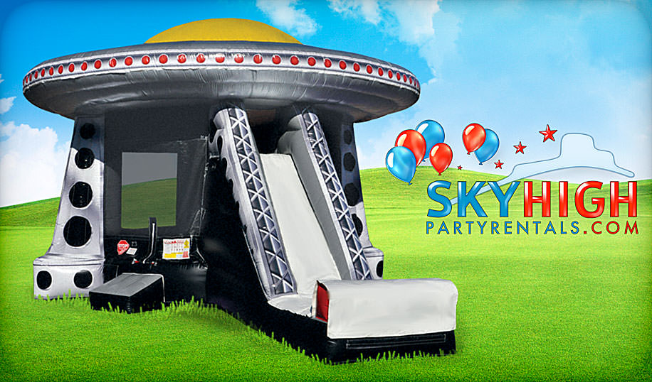 inflatable ufo alien slide