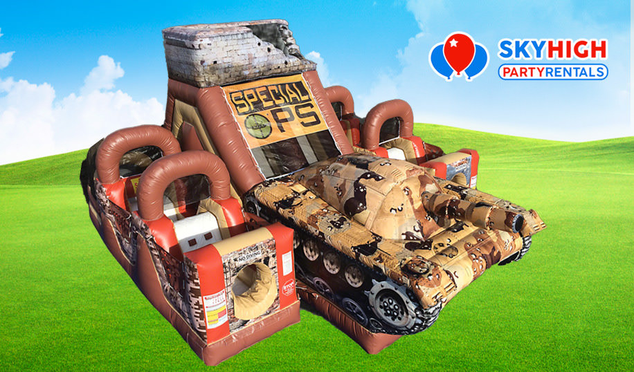 Blow Up Army Special Ops Tank Obstacle Course