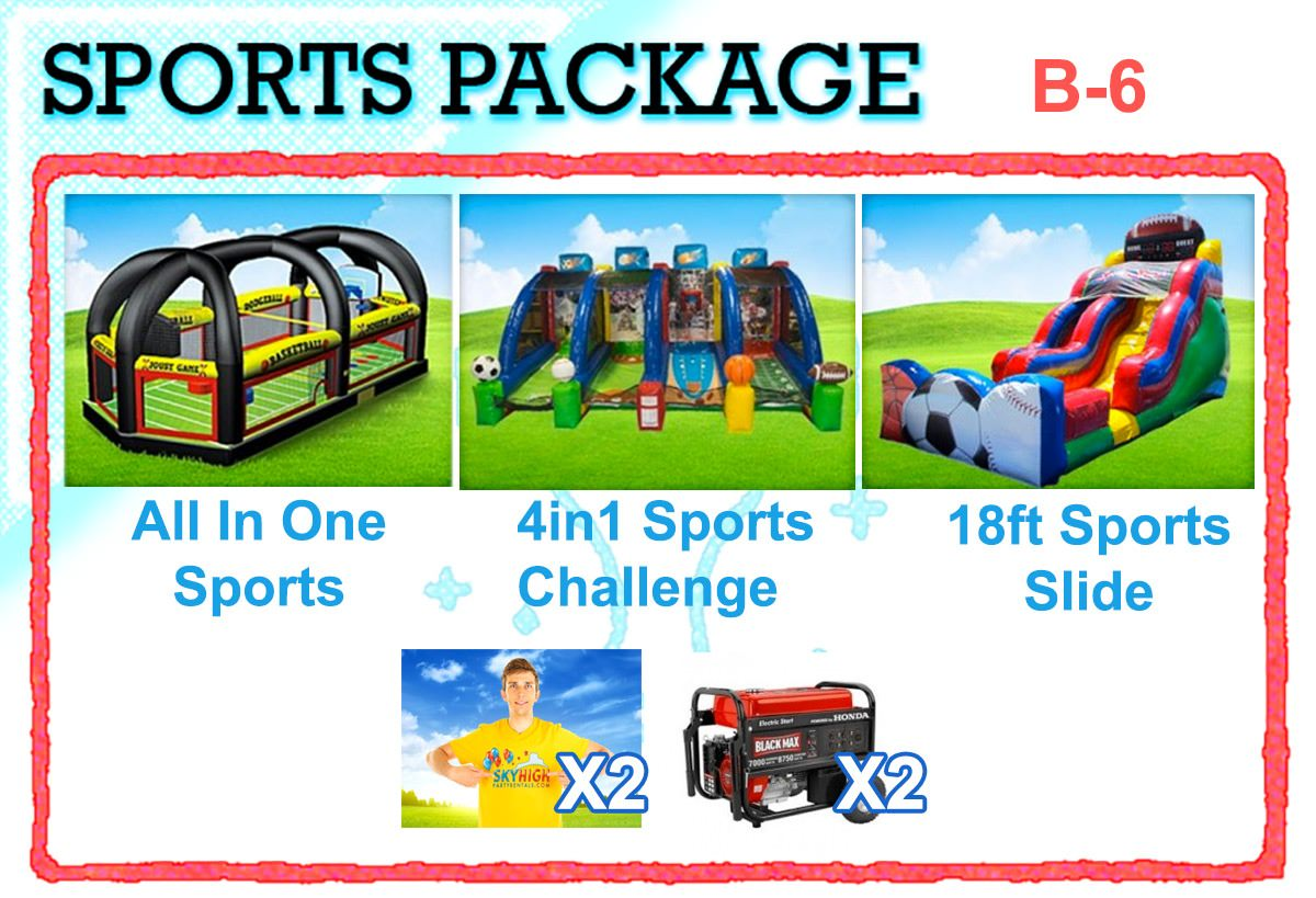 Sports Bounce House Hire Event Package in Houston, TX