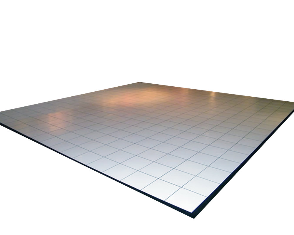 Snap Lock White Dance Floor - 12' x 12'
