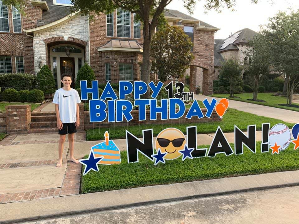 Yard Signs Delivered for Birthdays