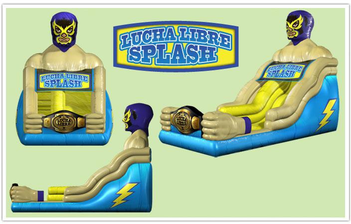 Lucha Libre Inflatable Slide