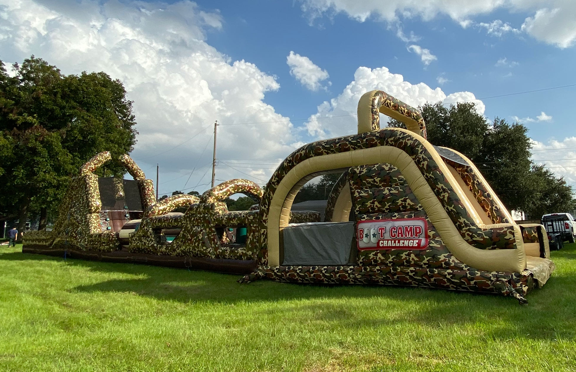 Camo Military Obstacle Course Rentals