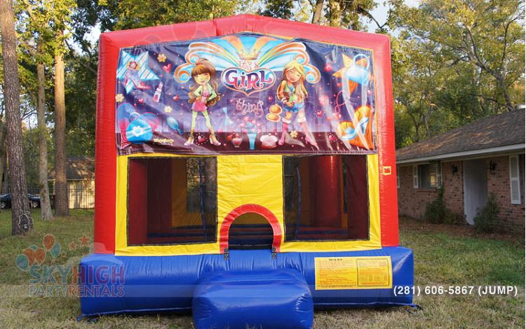 girl birthday party bouncer