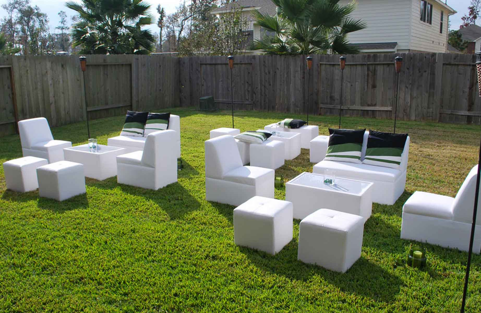 Houston outdoor party furniture rental