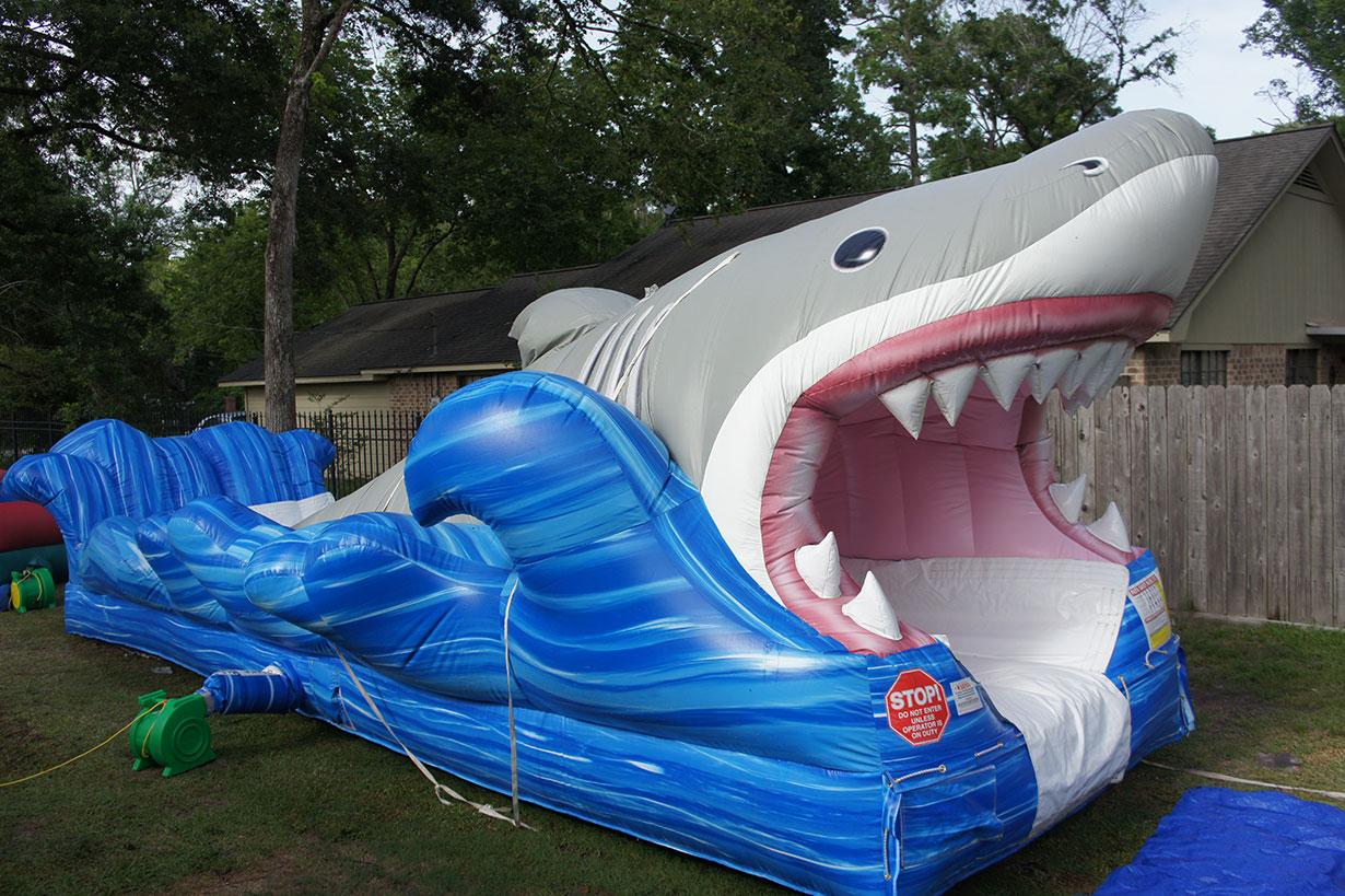Shark Inflatable Wet Slide