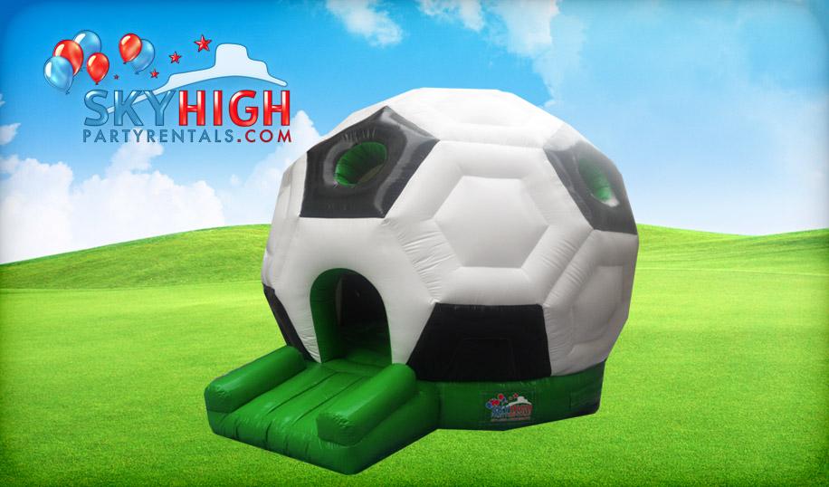 inflatable soccer moonwalk in Houston