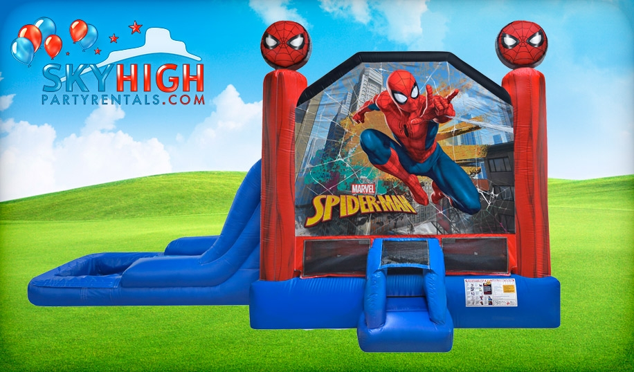 Spiderman Bounce House Water Slide Combo