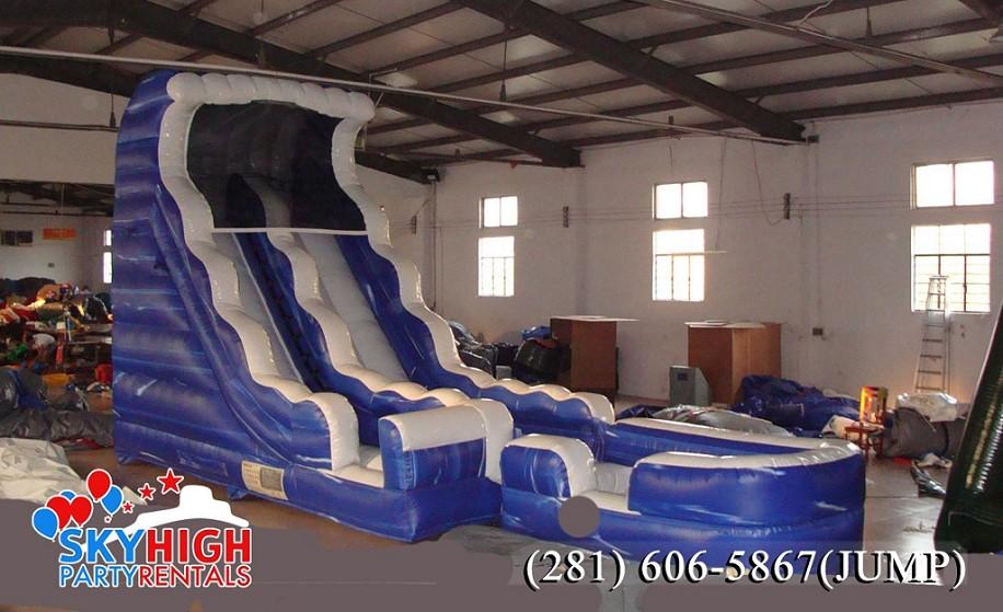 Wet water slide rental