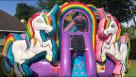 Big Unicorn Bounce House Inflatable Youtube
