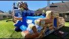 Bear Camp (Double Lane Water Slide w/Pools) Infaltable Youtube