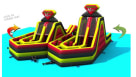 Double Rush Giant Obstacle Course Youtube 2
